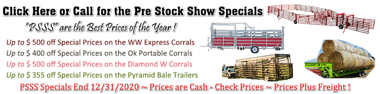 Click Here or Call for the Pre Stock Show Specials