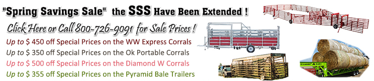 Spring Specials on Livestock Equipment - Specials Extended to 5/29