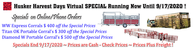 Husker Harvest Days Virtual SPECIAL Running Now Until 9/17/2020 !
