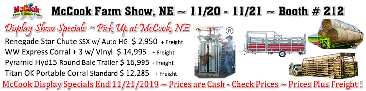 Come see Ackerman Distributing at the McCook Farm Show 11/20-11/21 For Some Great Show Specials !