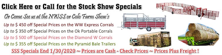 Call us for the Stock Show Specials