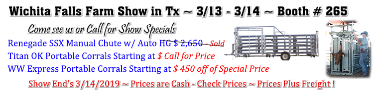 Show Specials for Wichita Falls, Tx Show End 3/14/2019
