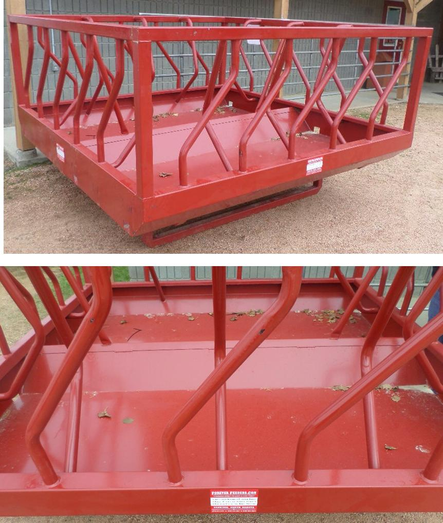 8' Heavy Duty Hay and Grain Skid Feeder