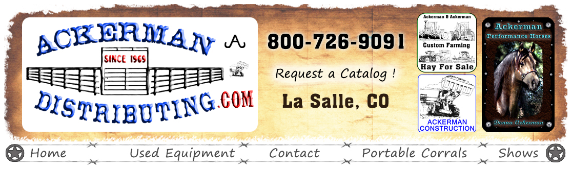Ackerman Distributing Phone # 800-726-9091 ~ 22935 County Road 33 La Salle, Co 80645