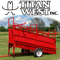 Portable Cattle Loading Chute by Titan West Inc.