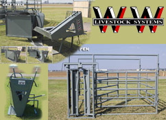 WW Equipment, WW Chutes, Calf Table, Longhorn Chute, Maternity Pen, Calf Tables, Headgates