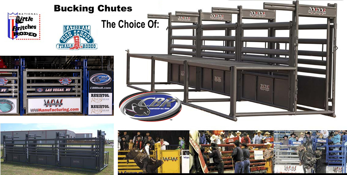 WW Bucking Chutes, Rodeo Equipment, The Choice of the CBR, Little Britches Rodeo, National High School Finals Rodeo. Championship Bull Riding is using WW Equipment For their Tour.