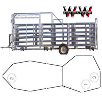 WW Express Portable Corral for Working Cattle