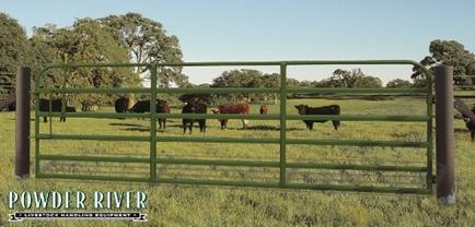 "Powder River Classic 52"" Gate w/ Lever Latch 6 Bars"