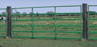 "Powder River Classic 60"" Gate w/ Lever Latch 6 Bars"