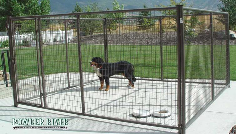 Powder RiverDog Kennels: 10' x 5' & 10' x 10'