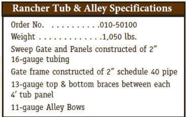 Powder River Rancher Tub and Alley System