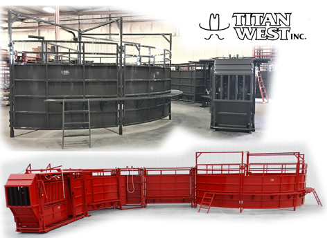 Titan West Cattle Care Hyd Chute Permanent or Portable