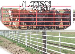 Titan West Continuous Fence & Heavy Duty Corral Gates