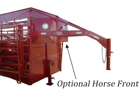 Titan OK Portable Corral Shown with a Horse Front